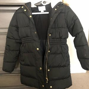 Old Navy puffer coat with faux fur hood